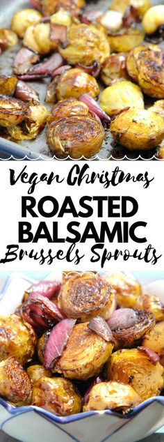 A Very Vegan Christmas: Roasted Balsamic Brussels Sprouts Great As A Festive Side Dish Vegan Side Dishes, Vegetable Side Dishes, Side Dish Recipes, Food Dishes, Vegan Christmas Dinner, Christmas Roast, Tofu, Cena Paleo, Vegetarian Recipes