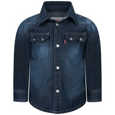 Levis Baby Boys Blue Chambray Shirt