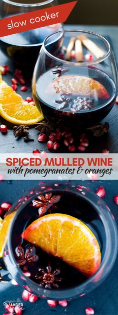 Slow Cooker Mulled Wine Recipe. Easy Fall Recipe. #mulledwine