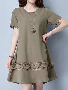 Choose new fashion casual dresses with sleeves for 2018 on newchic at discout prices. You can find off shoulder casual dress, casual swing dress and black dress casual outfit here Mobile. Casual Dresses With Sleeves, Simple Dresses, Cute Dresses, Mini Dresses, Sexy Dresses, Stylish Dress Designs, Stylish Dresses, Women's Fashion Dresses, Mini Vestidos
