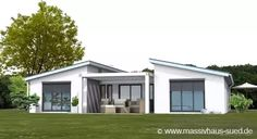 Bungalow Typ Bungalow 145 Source by Bauhaus Architecture, Modern Architecture Design, Modern House Floor Plans, Small House Plans, Bungalows, Flat Roof House Designs, Dream House Exterior, Architect House, Roof Design