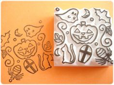 Season collection 1 Halloween stamp by JapaneseRubberStamps, £12.00