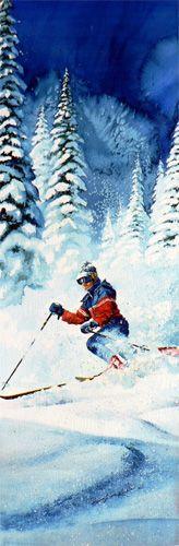 Telemark Trails by Hanne Lore Koehler ~ downhill skier