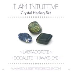 I AM INTUITIVE Healing Crystal Tumbled Stone Set by Soul Sisters Designs