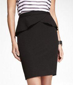 Amazing peplum pencil skirt