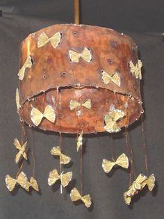 HANGING LAMP handmade lamp BUTTERFLIES made by copper and brass net Handmade Lamps, Copper And Brass, Butterflies, Butterfly