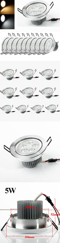 Lamps And Lighting 10Pcs 5W Led Recessed Ceiling Down Light Bulb Lamp Downlight White Warm
