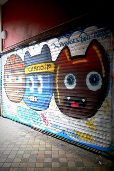 Chanoir - street art - paris 10, passage du marché (juin 2013)