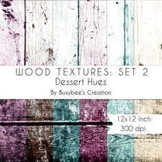 Digital Paper Pack: Wood Textures Set 1- Dessert Hues- INSTANT DOWNLOAD - Print Quality 300 dpi 12x12 Inch $2.49 #handmade #digitalpaper #scrapbook
