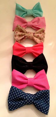 Oh the blissful life: cutest bows in town---and now I know how to make bows for my pup's bow ties!!!
