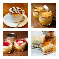 Real Women of Philadelphia Member Recipes: Upside Down Under Cheesecakes |  Cafe con Leche Souffle | Peach Melba Cheesecakes | Alfajores Cheesecake Squares