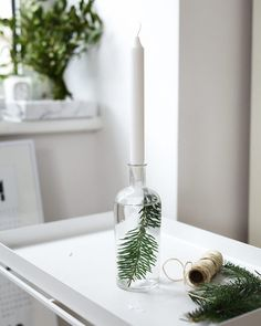 Beautifully simple DIY candleholder by @viennawedekind #diy #christmas #candle by myscandinavianhome