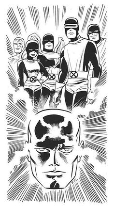 Professor X and The X-Men by Bruce Timm Comic Book Artists, Comic Book Characters, Comic Book Heroes, Comic Artist, Marvel Characters, Comic Books Art, Bruce Timm, Marvel Comic Universe, Marvel Comics Art