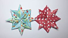 ORIGAMI CHRISTMAS STAR TUTORIAL !!