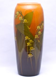 Rookwood Art Pottery Lily of the Valley Vase 1903 Roseville Pottery, Pottery Vase, Ceramic Pottery, Vintage Vases, Vintage Pottery, Vintage Art, Arts And Crafts Movement, Glass Ceramic, Ceramic Clay