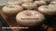 Baked Eggnog Donuts