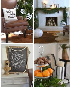 Modern Christmas farmhouse and decorating at the Nesting Place www.thenester.com