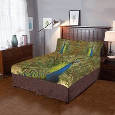Brilliant Peacock 3-Pieces Bedding Set