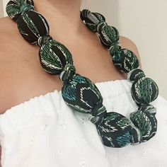 Fabric Necklace   https://www.etsy.com/listing/483002399/fabric-necklace-unique-necklace-black