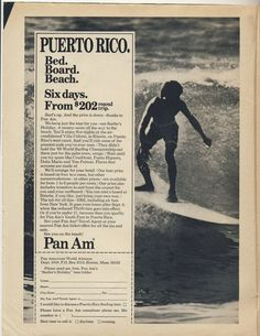 Puerto Rico surfing trip through Pan Am