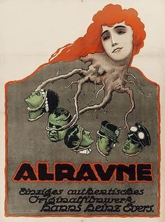 Alraune, the executioner's daughter, called the red Hanne, 1918 theater poster / art / print / illustration / graphic design Graphic Design Illustration, Illustration Art, Poster Ads, Film Posters, Polish Posters, Poster Vintage, Vintage Ads, Vintage Images, Illustrations