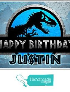 Personalized Jurassic World Birthday Banner from Paper Blast…