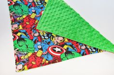 Baby Security Blanket - Super Hero Marvel - Soft and Comfy Back, Baby Lovey on Etsy, $10.00