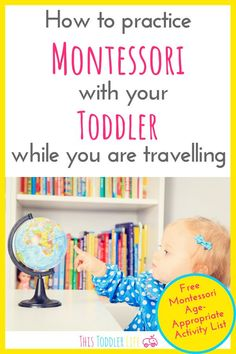 How to practice Montessori with your toddler while you are traveling. Are you traveling? Learn how to keep practicing Montessori no matter where you are! List Of Activities, Montessori Activities, Travel Activities, Infant Activities, Travel Toys For Toddlers, Toddler Travel, Montessori Toddler, Toddler Preschool, Flying With Kids