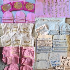 Blown away! 900 sales on Etsy in 3 months! This is just a portion of the 50 orders that we finished and shipped yesterday. We love that we can be apart of those most special moments - a brand new baby or even two. We've done a lot of twin sets! #babygift #newbabyboutique #babyboy #babygirl #babyshower #bringinghomebaby