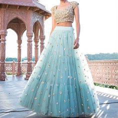 Unique Bridal Lehenga designs that is every Bride's pick in Indian Wedding Outfits, Bridal Outfits, Indian Outfits, Lehenga Choli Designs, Lehenga Choli Online, Indian Fashion Dresses, Indian Designer Outfits, Indian Designers, Indian Lehenga