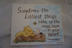 Winnie the Pooh hand painted stretch canvas by poodlemanagerie, $8.00
