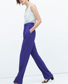 LOOSE-FIT TROUSERS-View all-Trousers-WOMAN   ZARA United States