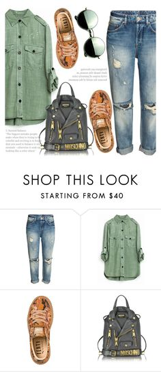 """""""We Don't Talk Anymore"""" by fattie-zara ❤ liked on Polyvore featuring Puma, Moschino and Revo"""