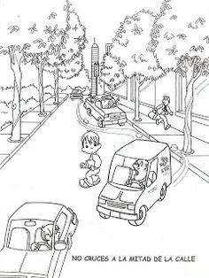 Навчання дорожні малюнки Барвні   розмальовки Діти