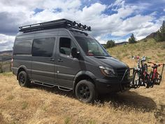 Need a roof rack for your Mercedes Sprinter high-roof camper van? Campervan HQ has the best roof racks for Mercedes Sprinter campervans. Mercedes Sprinter Camper, Sprinter Van, Car Camper, Camper Caravan, Sprinter Conversion, Camper Conversion, Ambulance, Motorhome, Ford Nugget