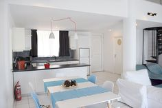 Holiday Loft Apartment Kiveri close to Nafplio. A unique waterfront two bedroom loft apartmetn with amazing sea view balcony, just on the beach. Bedroom Loft, Two Bedroom, Villa, Sea, Amazing, Holiday, Furniture, Home Decor, Vacations