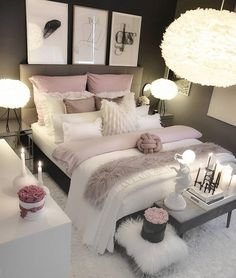 37 jawdroppingly cheap bedroom ideas for small rooms . - 37 jawdroppingly cheap bedroom ideas for small rooms …, - Small Bedroom Interior, Pink Bedroom Decor, Bedroom Setup, Bedroom Decor For Teen Girls, Girl Bedroom Designs, Room Ideas Bedroom, Small Room Bedroom, Small Rooms, Bed Room