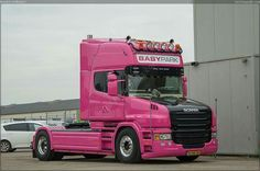 Scania. BABY park.. Lady truck .