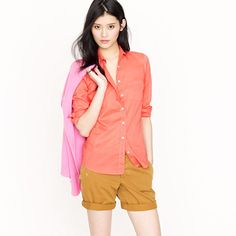 J Crew Boy shirt in Indian voile... I LOVE all of this look!