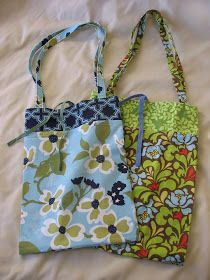 Needle and Spatula: Roll-up Shopping Bag Sewing Tutorial