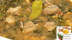 Cuisine artisanale d'Ambanja ( Madagascar ): Romazava de viande de boeuf avec brède mafana