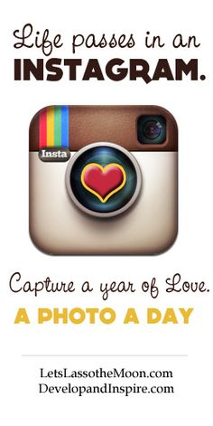 """{Capture the Love} Anyone out there interested in documenting a year of love? <3 Maybe even simply on Instagram? """"The best camera is the one you have with you."""""""
