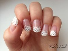 Cute Lace French Manicure