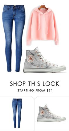 """""""Luv it"""" by samidennis on Polyvore featuring WithChic and Converse"""