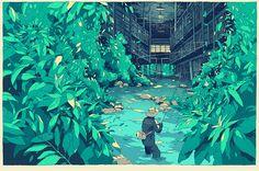 Detailed & complex illustrations by Simon Prades. #Illustration #Art #Japanese