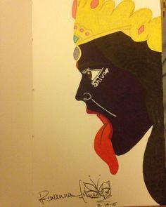 Kali Ma  Gel pen on card stock  Roxanna Arnett  Year 2015