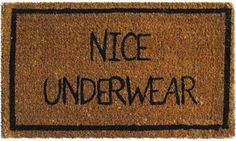 LOVE THIS ENTRANCE IDEA for Koch's Kastle.  Perfect <3  Creative doormats.