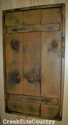 a shallow wall cabinet to hide wall jacks fuse box cover primitive wood circuit breaker fuse box cover by creeksidecountry 99 95