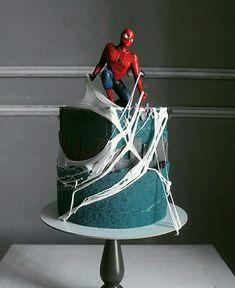 The amazing cake art of Russian artist and pastry chef Elena Gnut – baking or artwor … – Food – Cake Spiderman Birthday Cake, 4th Birthday Cakes, Superhero Cake, Marzipan, Cake Cookies, Cupcake Cakes, Cupcakes, Rodjendanske Torte, Russian Cakes