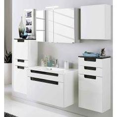 Armoire à miroir salle de bain Placard suspendu armoire badhängeschrank 3 armoires Acier Couloir